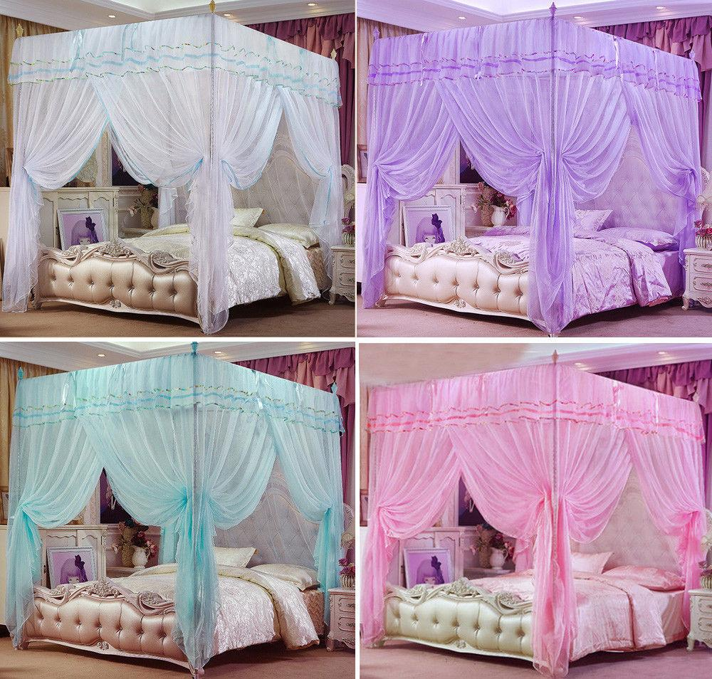 Princess Bed Canopy Mosquito Netting Or Frame Post Twin Full Queen King No Net Curtains Midge From Huayama 9241