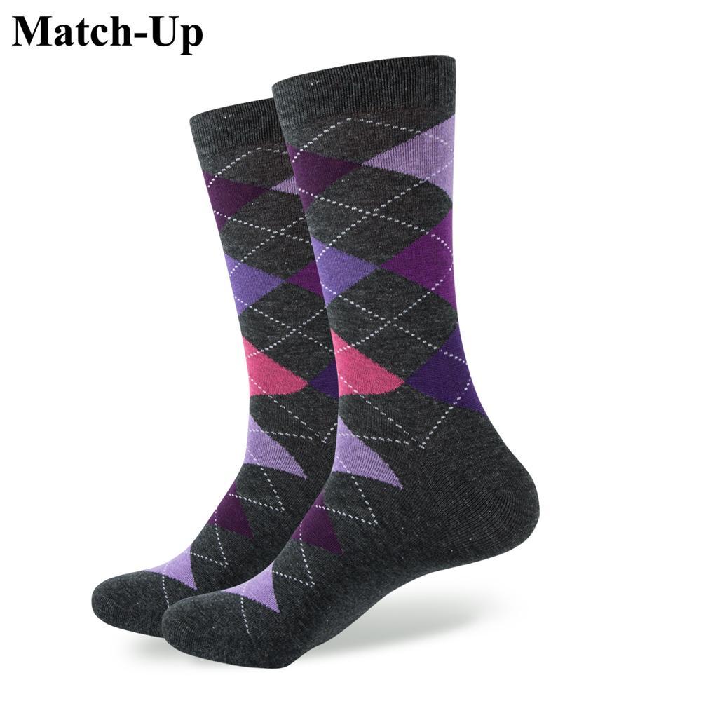 b96edc55560e Match-Up New Style ARGYLE SOCK Men's Combed Cotton Socks Wedding ...