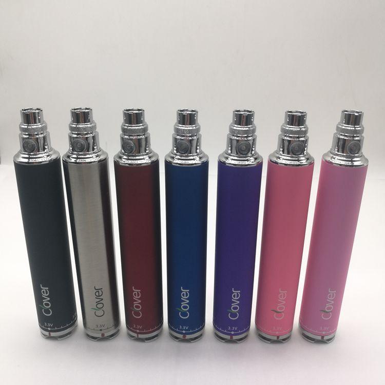100% Authenic Clover Overlord 2600mah 510 батареи Twist Напряжение 3.2 ~ 4.8V 2600mah Clover Много цветов Бесплатная доставка DHL