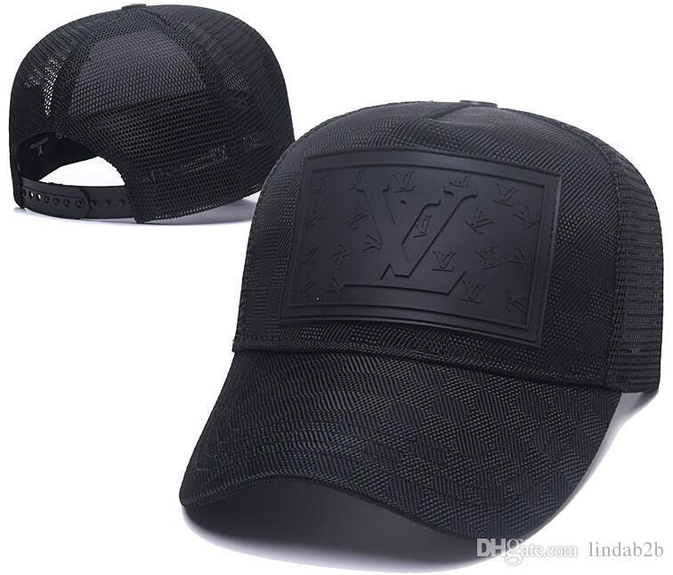 51883ff4ebf 2019 France Brand V Uitton Mens Designer Hats Leather Baseball Caps ...