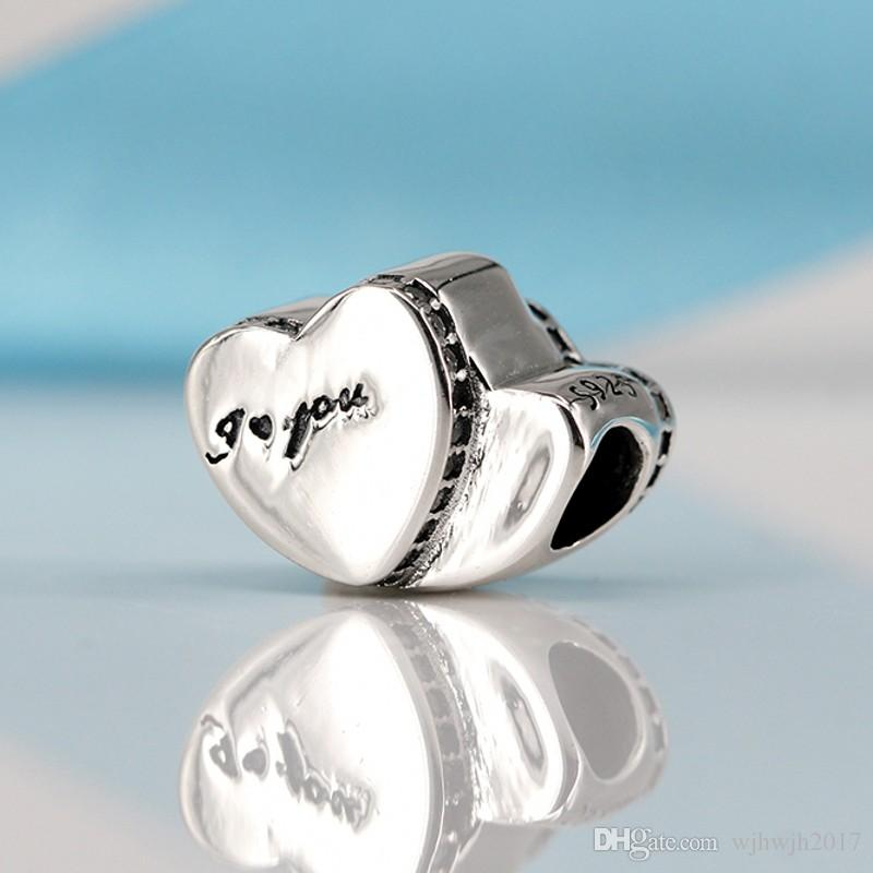 Valentine's Day Gift Authentic 925 Sterling Silver Two Hearts Charm, Clear Crystal Heart Beads Fit Original Brand Bracelet Diy Jewelry