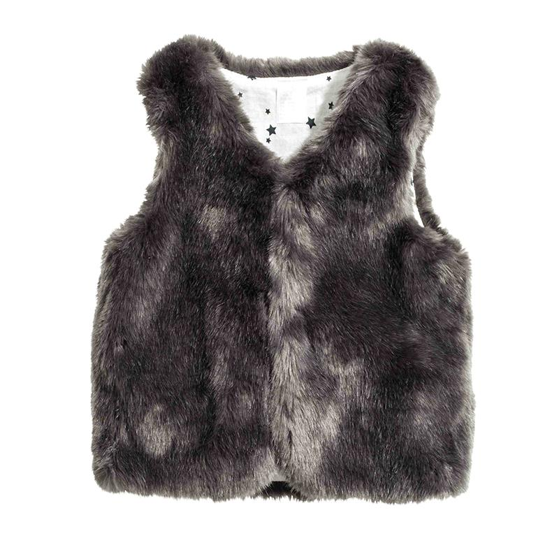 260190a5e Baby Girl Winter Clothes Artificial Fur Vest Kids Coats Warm ...