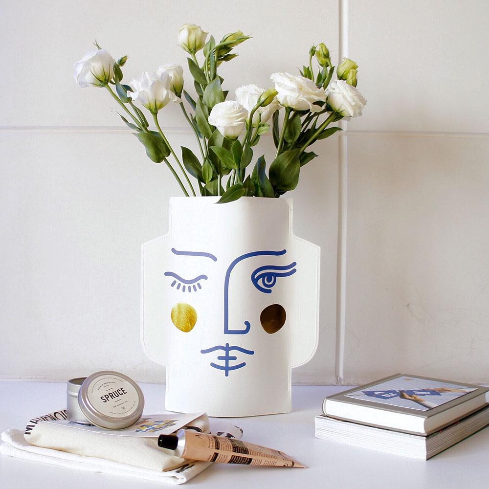 2018 Ins Nordic Creative Paper Vase Dried Flower Vase Modern