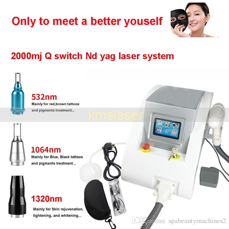 2000MJ Touch Screen Q Switched Nd Yag Laser Machine tattoo removal Eyebrow Pigment Removal Scar Acne removal 1320nm 1064nm 532n