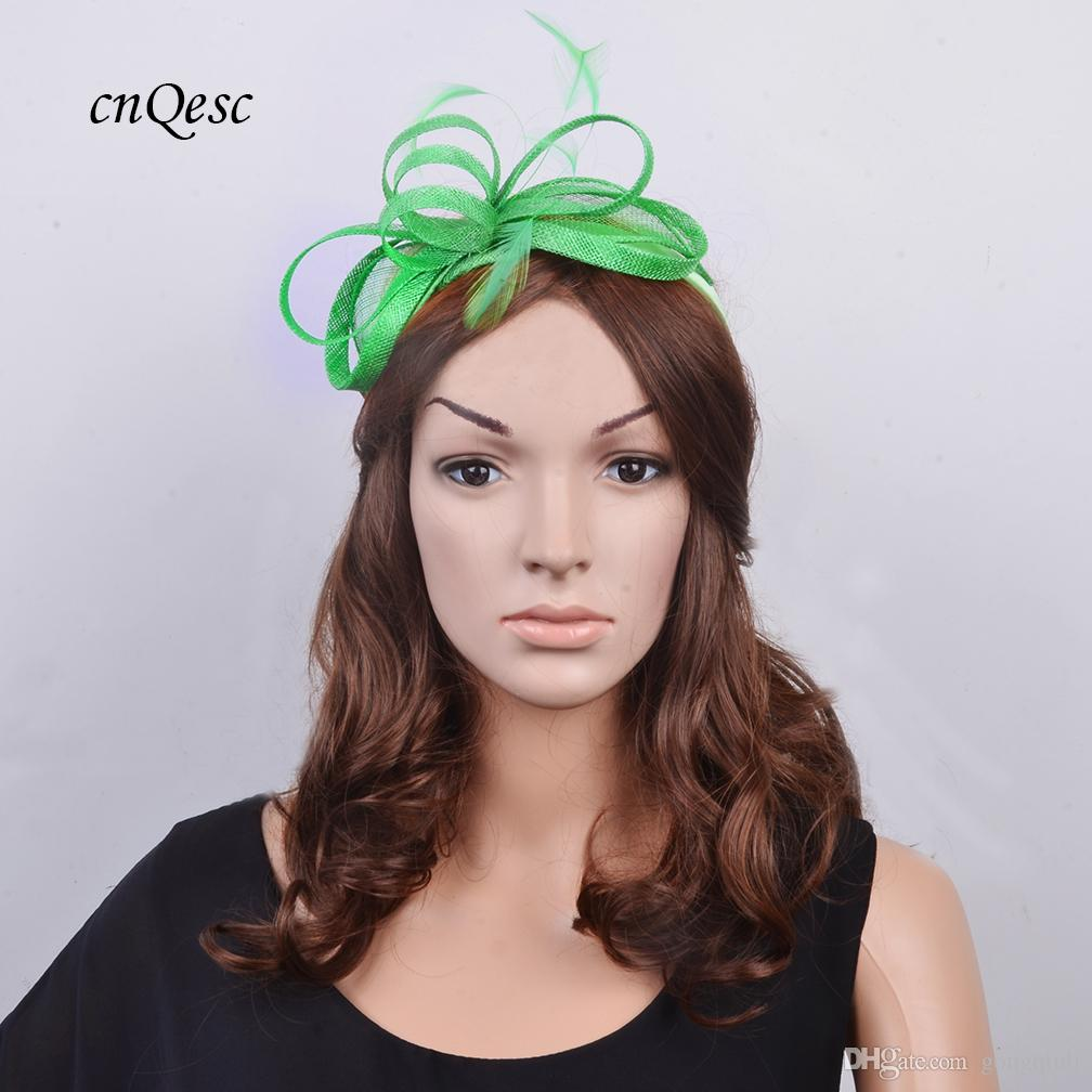 Mint Small Feather Fascinator Sinamay Loop For Kentucky Derby Wedding Hat  Special Occasion Hats Wedding Hats For Women From Gongqiuli 8340f6fe748