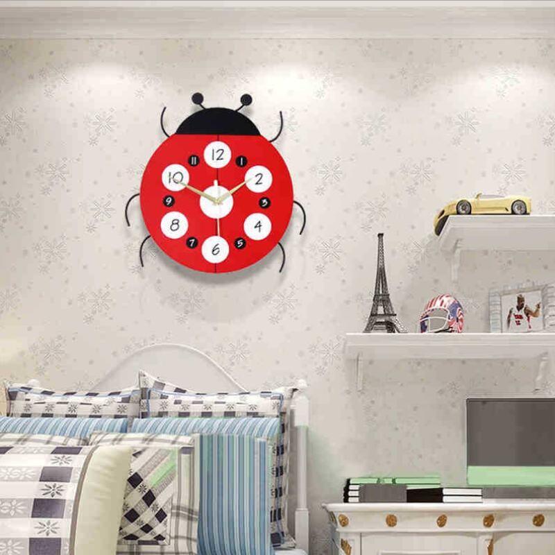 Geekcook Creative Cartoon Wall Clock Fashion Modern Living Room Clock Kids  Room Simple Wall Bedroom Mute Decorative Clocks Wall Clocks Small Wall  Clocks To ...