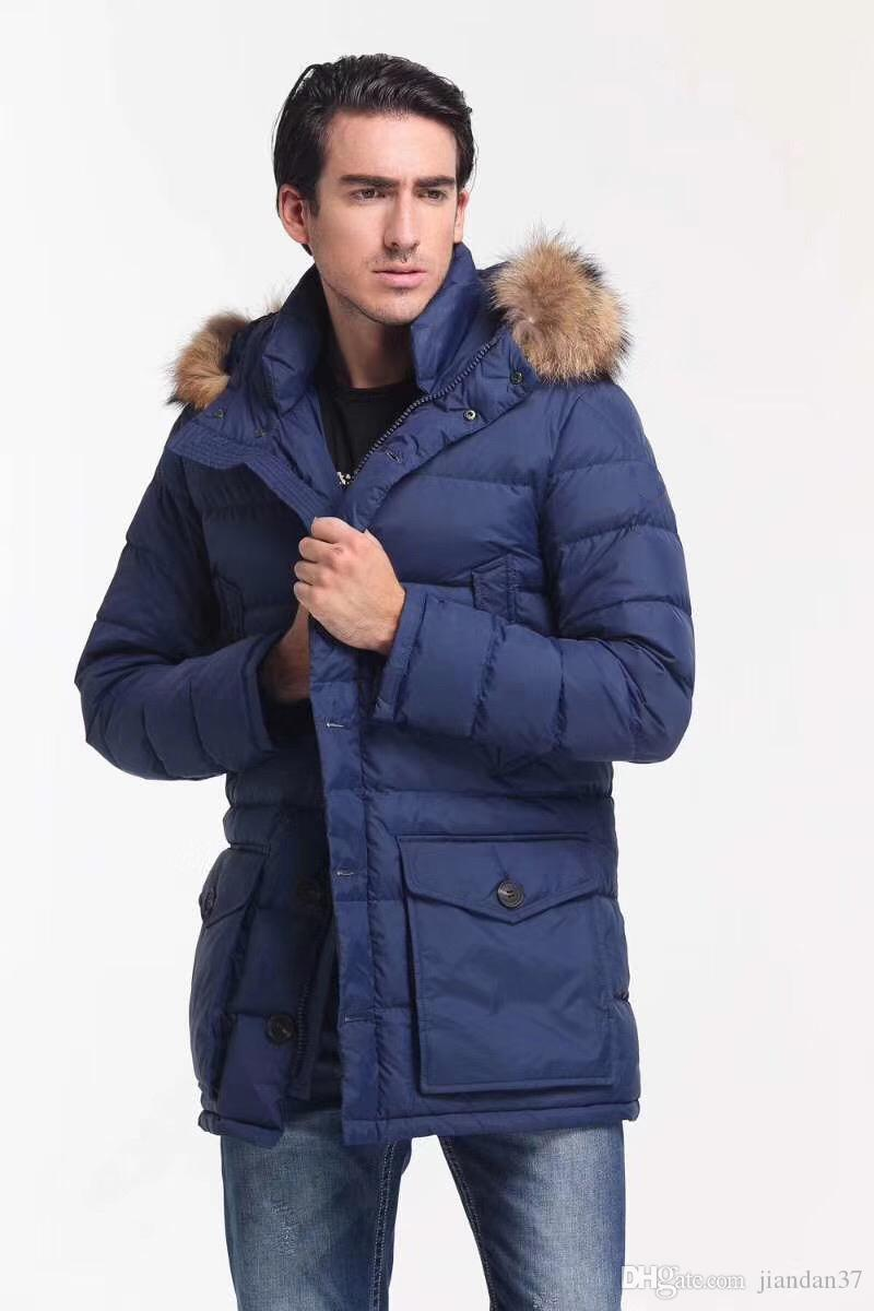 2019 2018 winter british style men thick down jacket hooded jacket
