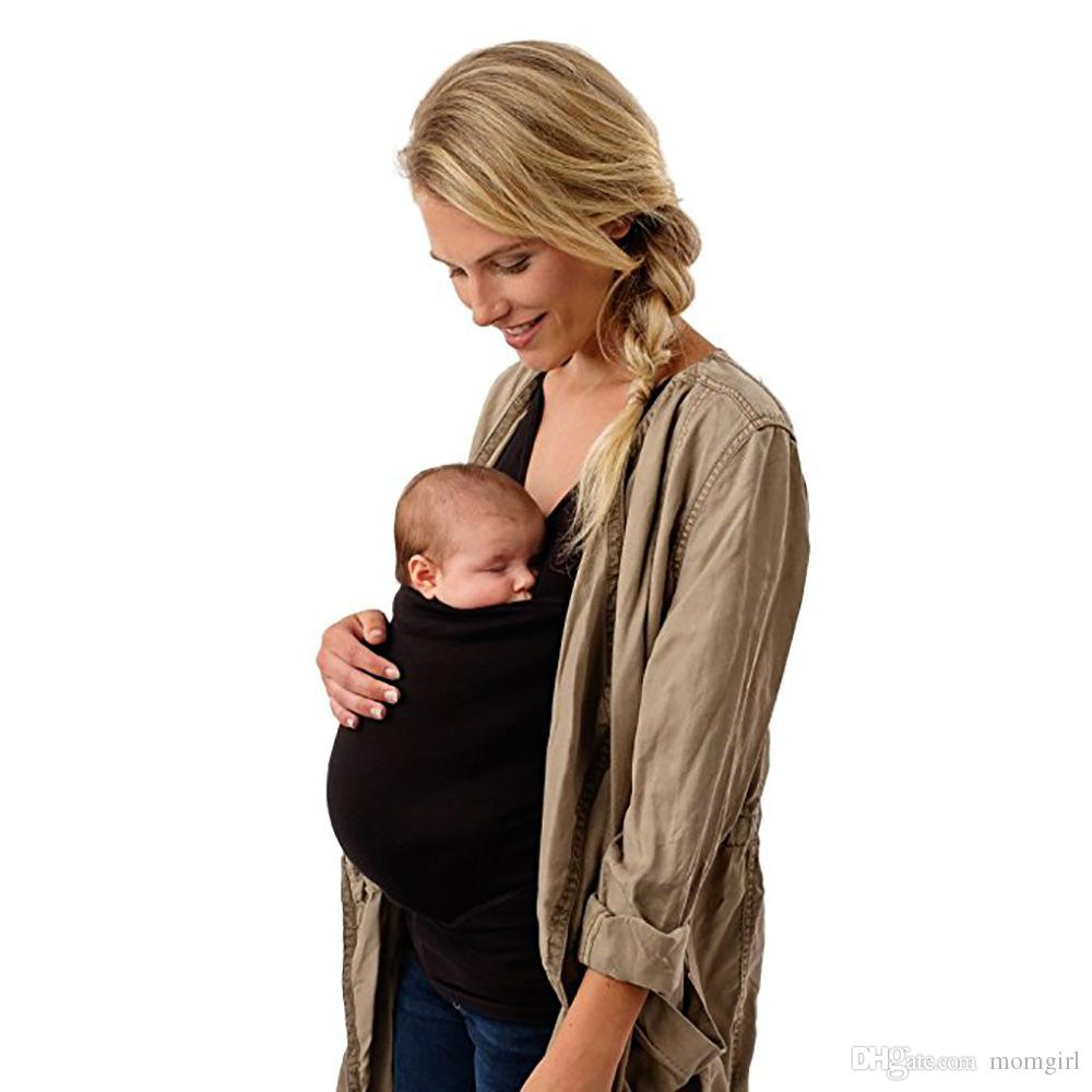 Baby Carrying Tops Women Kangaroo Vest Carrier Shirt for Mommy Wearing sleeveless vest Parenting Child features Plus Size