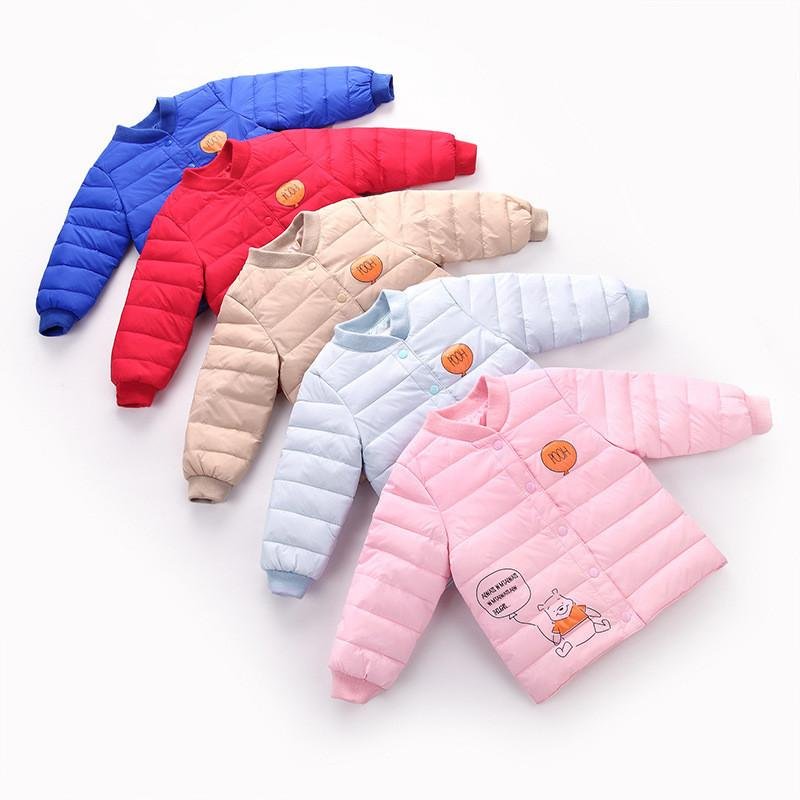 3-6 years 2017 winter warm casual colorful bear top wear baby girl boy clothing children outerwear coat down jacket parkas