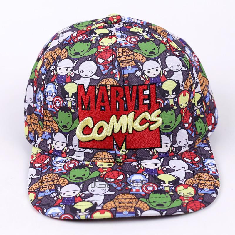 c8d60e5f3 Marvel Comics Baseball Cap Women Mens Gorras Planas Snapbacks Trucker Hat  Outdoor Hip-hop Snapback Caps