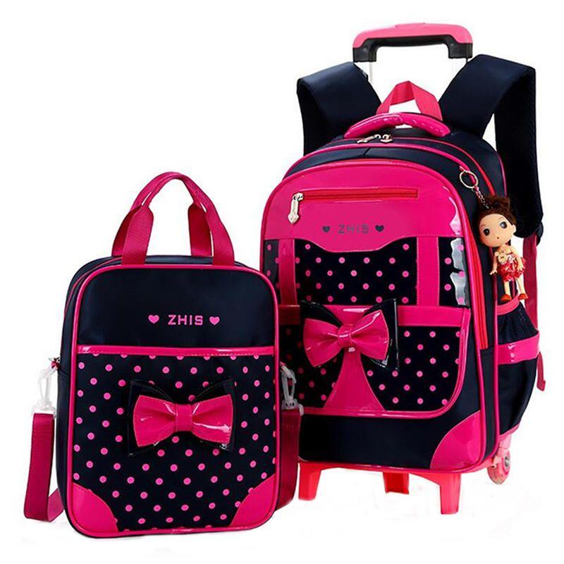 847dea1e02ff 25L Children Trolley Backpack Shoulder Bag Camping Trolley Case With Wheels  Girl Trolley School Bag Backpack Sets for Kids Trolley Backpack School Bag  Kids ...
