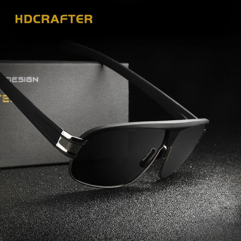 258626c102 Compre Gafas De Sol Polarizadas Para Hombres De Conducción Al Aire Libre HD Gafas  De Sol Diseñador De La Marca De Alta Calidad Masculina 4 Tonos De Moda De  ...