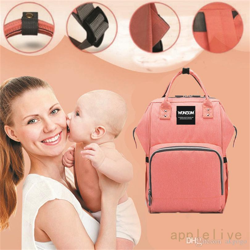 Wholesale Mummy Maternity Backpack Baby Nappy Multifunctional Large Capacity Changing Bag Bags Stuff Sacks
