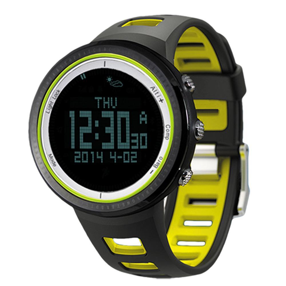 Sunroad Men Watches Waterproof Digital Altimeter Compass Stopwatch Barometer Pedometer Sport Wrist Watch Clock Relogio Masculino Watches