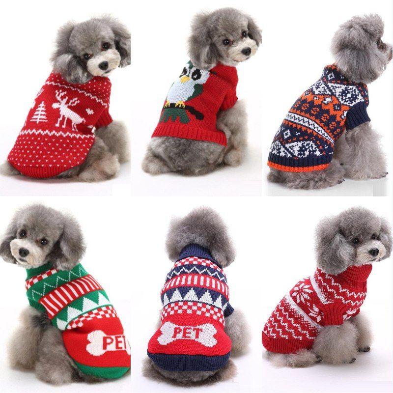 Compre Ropa Para Perros Mascotas Fiesta De Navidad Ropa De Renos ...