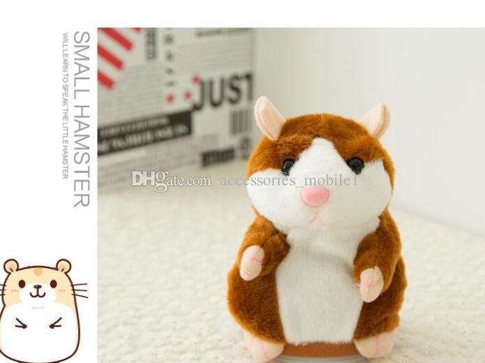 2018 Nette 15 cm Anime Cartoon Reden Hamster Plüschtiere Kawaii Sprechen Reden Tonaufnahme Hamster Reden Spielzeug für Kinder