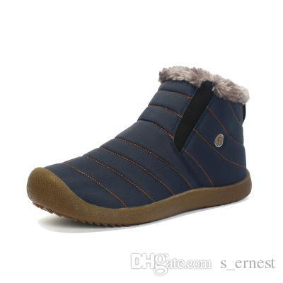 Men Winter Snow Shoes Lightweight Ankle Boots Warm Waterproof Botas Mens Rain Boots 2016 New Furry Booties Shoes For Men C#002