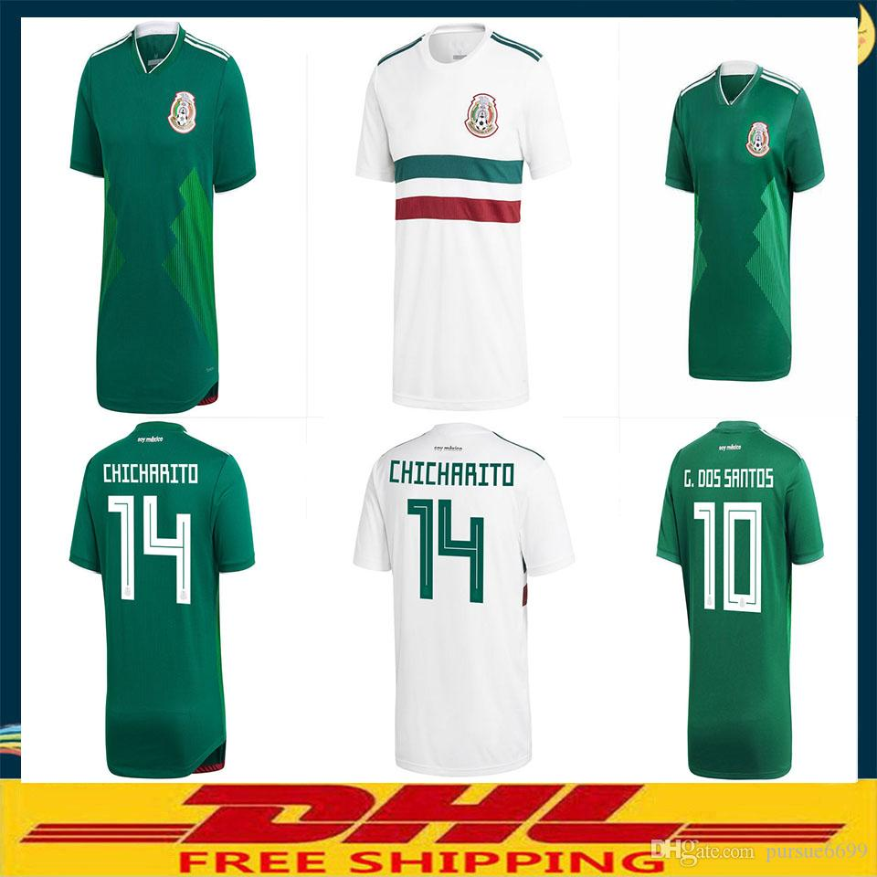 491111b2deba6 DHL 2018 Mexico Soccer Jersey Home Away Player Version Fans Version Size  Can Be Mixed Batch Mexico Online with $17.52/Piece on Pursue6699's Store |  DHgate. ...