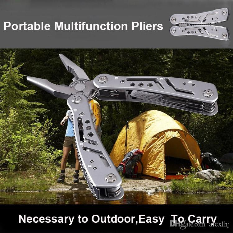 Brand New Multifunctional Stainless Steel Floding Pliers tool with Knife Screwdriver for Household Camping Outdoor Bicycle Multitool