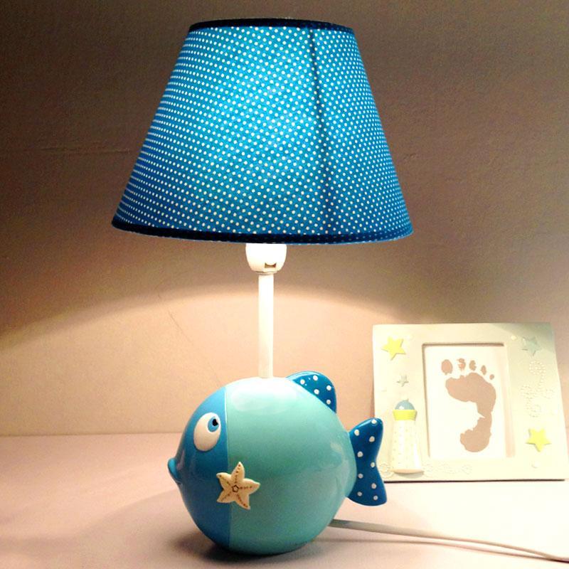 Dest Light Children bedroom bedside lamp lamp cartoon playful fish dimming fashion warm decoration Table Lamp lovely gift
