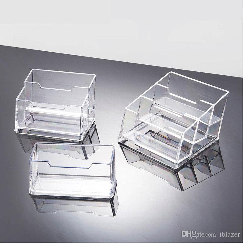 2018 acrylic clear cardcase name business card case stand id card 2018 acrylic clear cardcase name business card case stand id card holder display visiting card storage box for office from iblazer 241 dhgate colourmoves