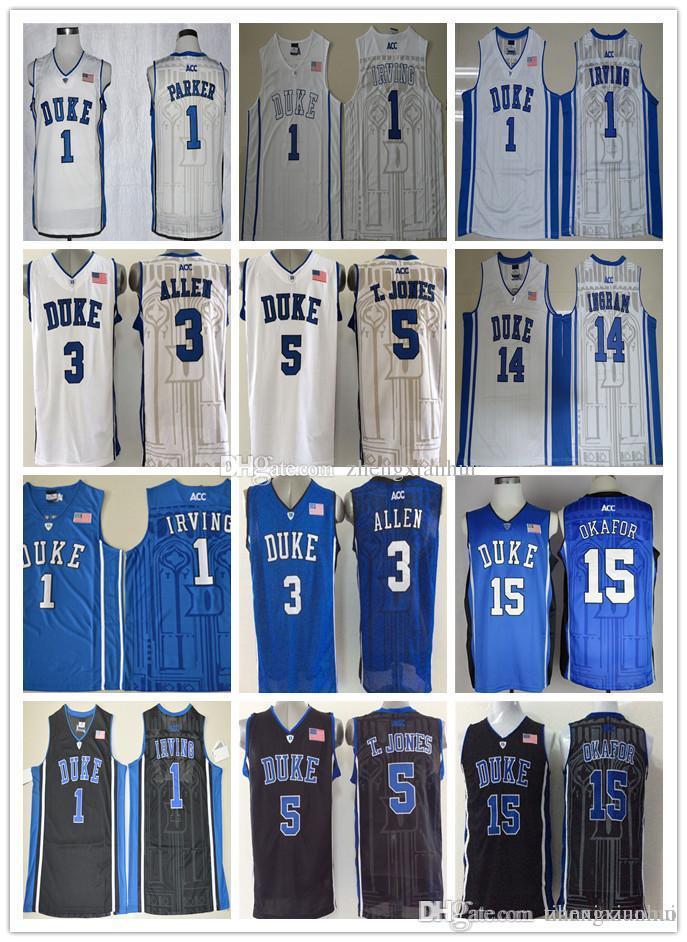 67436fc5084 ... 2018 duke blue devils jerseys college 3 grayson allen 1 kyrie irving  shirt 1 jabari parker
