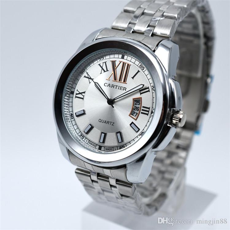 2045dfb0c Relógios suíços para homens top marca relógios de luxo de aço inoxidável homens  relógios de moda relógios relógios de pulso casual 3ATM impermeável de alta  ...