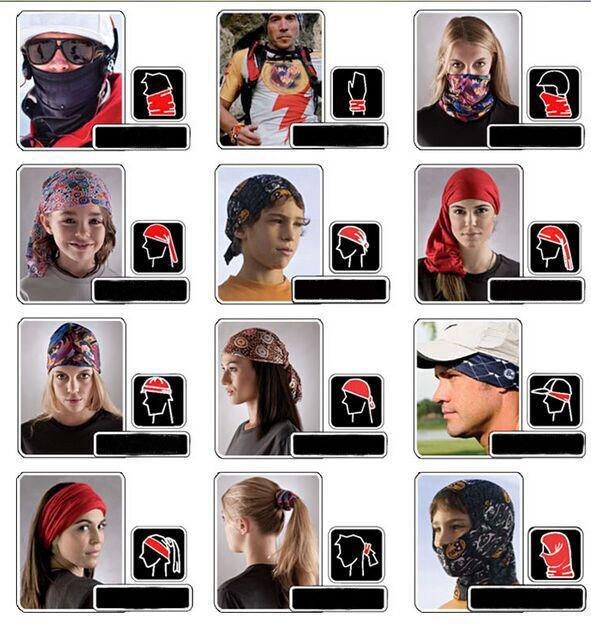HOT unisexe solide chaud écharpe ordinaire Tube Bandana Tête Visage Masque Neck Gaiter Snood Headwearpure solide