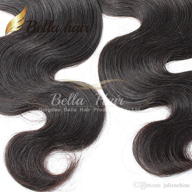 Bellahair® 10-24 zoll Brazilian Weave / Human Hair Weft Natürliche Farbe 9A Grad Erweiterungen Julielenchina