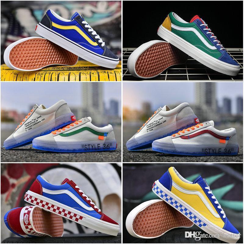 2018 New Old Skool Running Shoes Off Vault OG Style 36 Designer ... e187d8357