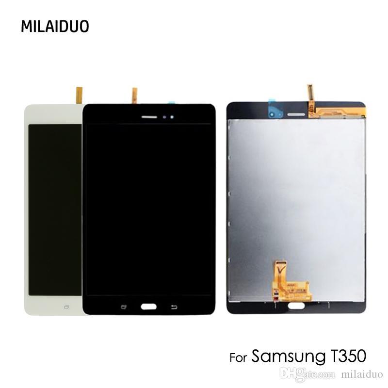 30b3e77fa21 Compre Original Display Lcd Para Samsung Galaxy Tab Um Sm T350 T335 T351  T355 Digitador Da Tela De Toque De Montagem Completa 8 Polegada Preto    Branco De ...