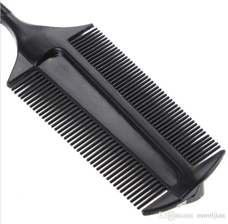 Pro Salon Styling Applicateur De Teinture Pour Cheveux Soulignant Brosse En Plastique Double Côtés Peigne De Coloration Des Cheveux