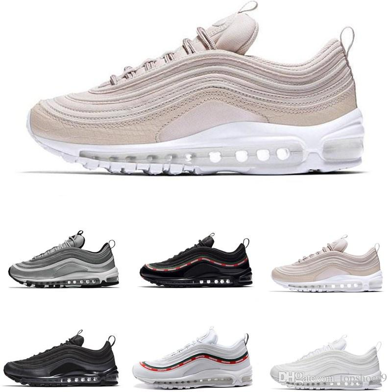 1b281380b 2019 Designer 97 Running Shoes 97s OG Gold Silver Bullet Triple White Black  Mens Womens Trainer Man Casual Sports Sneakers Size36-45 97 Shoes Luxury  Shoes ...