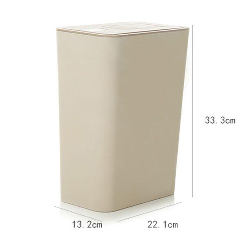 Creative 10L Double-Cap Con caja de almacenamiento de bolsa de basura Basurero en el basurero con alta calidad para herramientas de limpieza del hogar cocina Papelera de basura