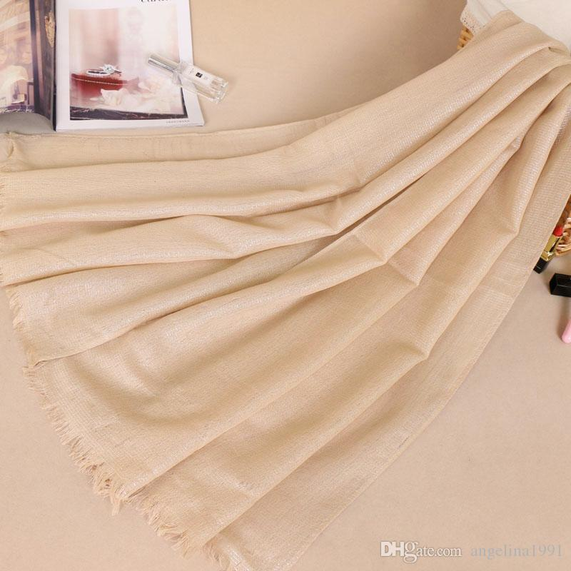 Women high quanlity silver glitter cotton lurex shawls hijab solid color shimmer headband scarves/scarf 180*70cm