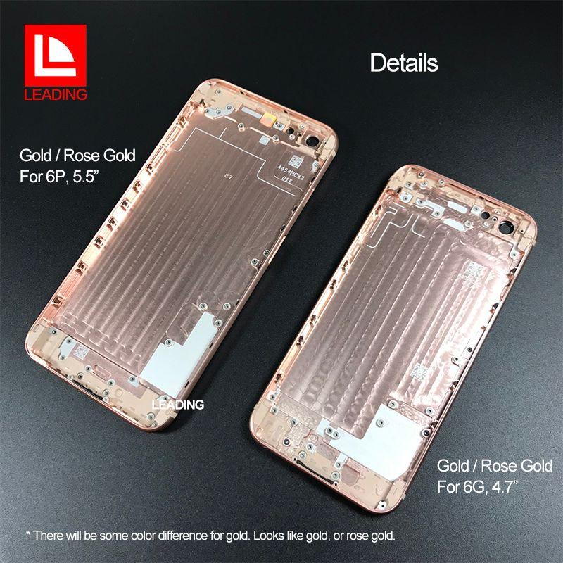 IPhone 6 6 P 6 S için 6 SP 7 7 P Artı Arka Konut Kapak Gibi iPhone 8 Stil Metal Cam Arka Kapak Değiştirme Düğmeleri ile