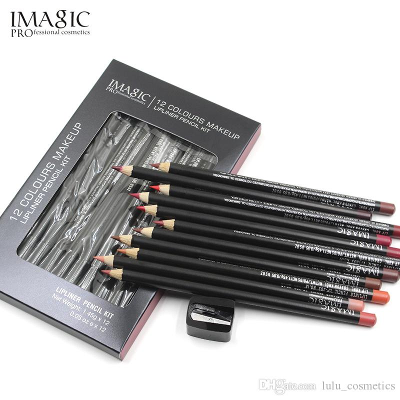 IMAGIC Professional Lipliner Pencil Lipliner Waterproof Contour Cosmetics Lipliner Penna Trucco Lip Pencil Set 12 colori