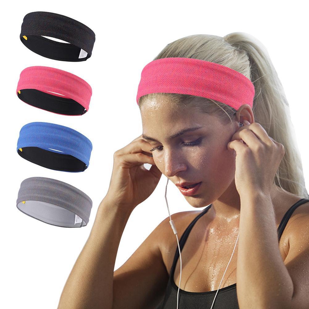 902f3f37846a 2019 2018 New Sport Headband Men Women Head Sweat Band Run Football Tennis  Headscarf Silicone Anti Slip Elastic Sweatband HairBand From Nicebetter