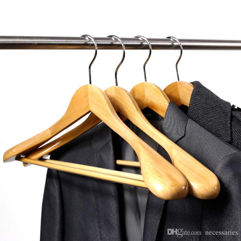 2018 Wooden Hanger Suit Hanger Pants Hanger Coat Wooden Hangers 44.5cm *  22cm * 5.5cm From Necessaries, $47.38 | Dhgate.Com
