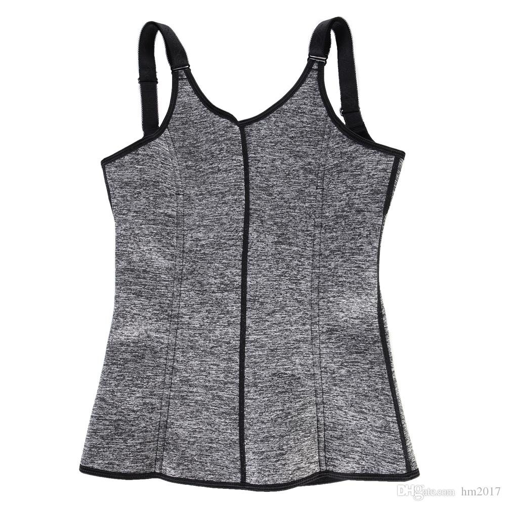 Neoprene Metal zipper Double Control Waist Trainer Corset Body Shaper Tummy Fat Burning for Hourglass Sweat Sauna Trainer Slimming Belt