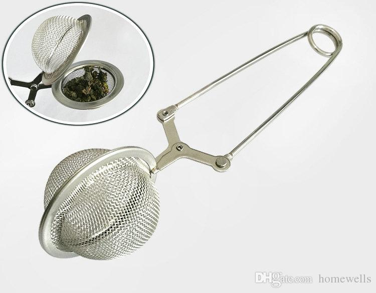 Stainless SteelTea Strainer Balls Stew Soup Hot Pot 4.5cm with 11cm Handle Tea Infuser Strainers Filters Interval Diffuser Tea Kitchen Tools
