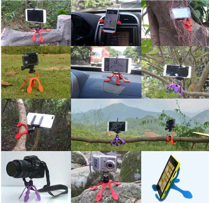 Hot Gekkopod Portable Universal Flexible Gecko Mini Tripod Mount Multi Function Phone Camera Stand Octopus Spider Holder For CellPhone case