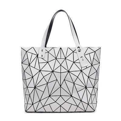 6b56af3ea030 Fashion Folding Women Big Size Handbag Ladies Casual Geometric ...