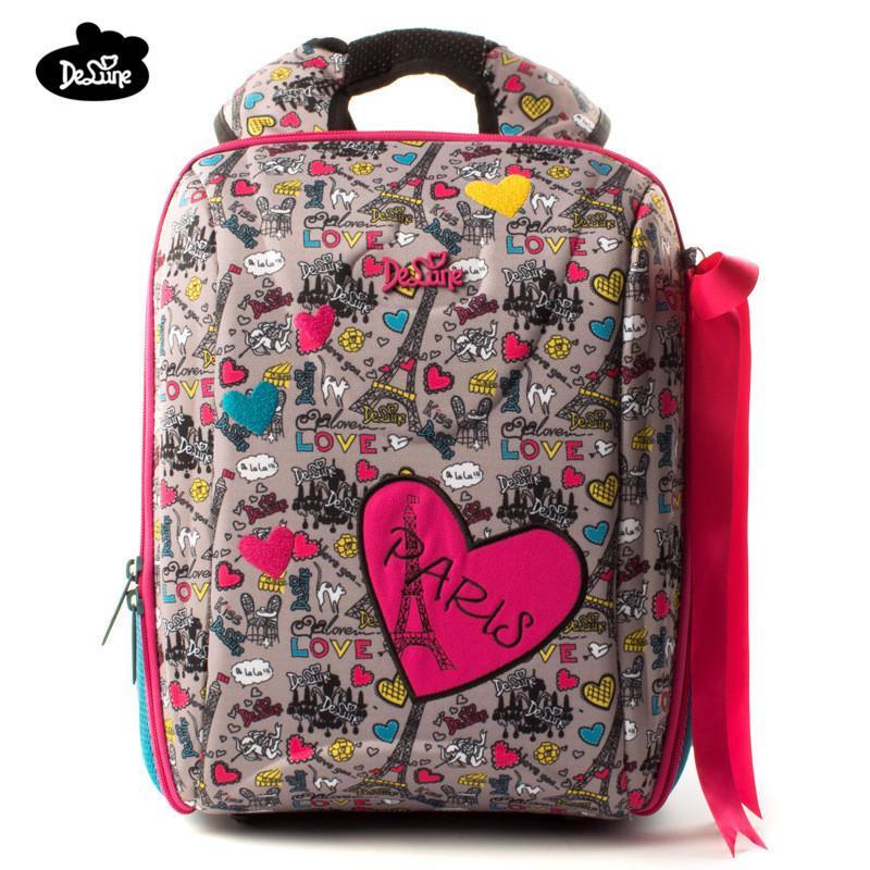 9c4febe6a877 2018 Delune Orthopedic Backpacks Kids Cartoon Waterproof Ergonomic Design  Schoolbag High Quality Children Girls Boys School Bags Y18110107 Wheeled  Backpacks ...