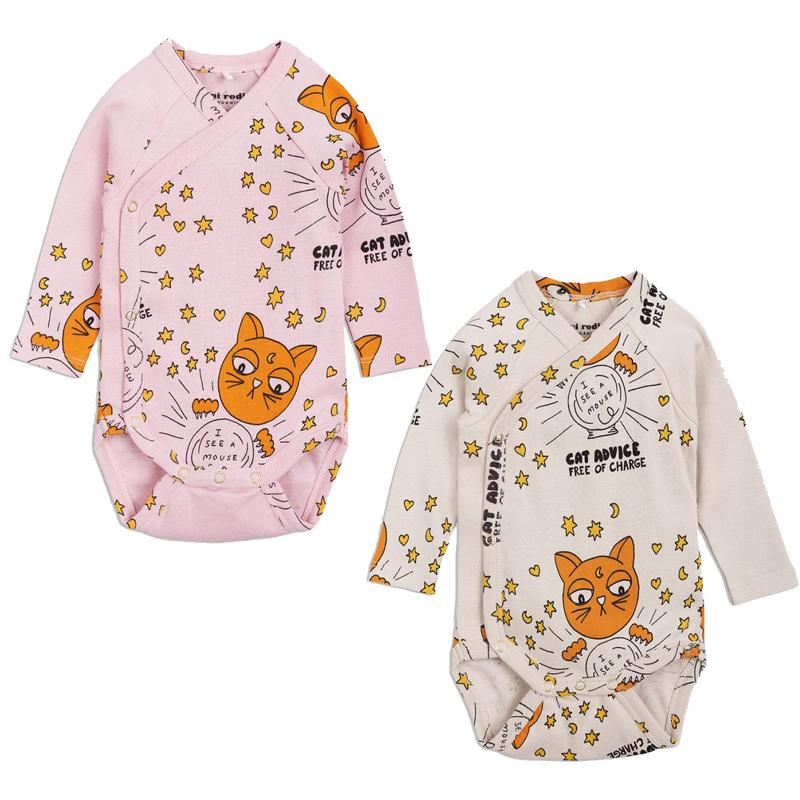 814aa075b 2019 Newborn Baby Boy Long Sleeve Bodysuit 2018 Autumn Baby Girls Cartoon  Cat Advice Wrap Body Suits Infant Kids Clothes Jumpsuit From Yohkoh, ...
