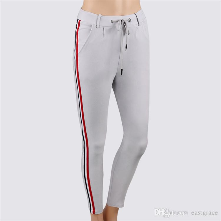 Moda de mujer Tight Sportwear Niza Leggings alto elástico delgado deportes pantalones de yoga Fitness correr pantalones largos Legging