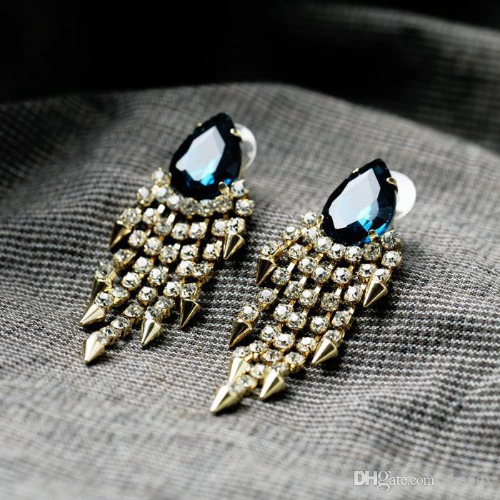 Novos pingentes de borracha de borracha com diamantes de diamante Brincos de jóias de alta qualidade novos selvagens Novos