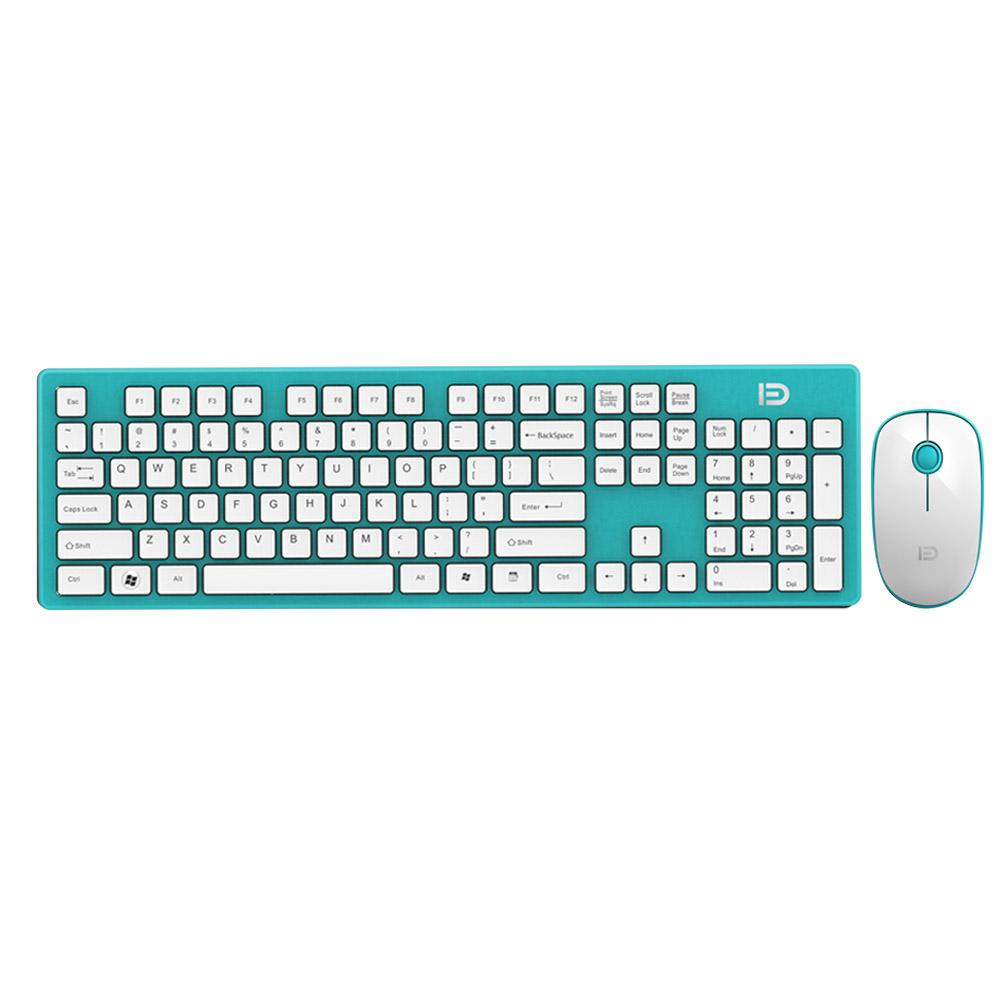 e25e3164ef8 2019 FD Full Size 2.4Ghz Wireless Keyboard Mouse Combo Ultra Slim Compact  Portable Keyboard Mice Set For PC Desktop Laptop Home And From Telep, ...