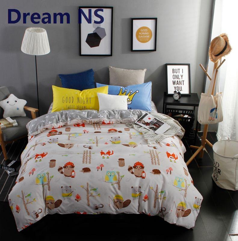 Owls Jungle Animals Wooden Bedroom Furniture Kids: AHSNME Jungle Animals Duvet Cover Owl Bedding Set Cute