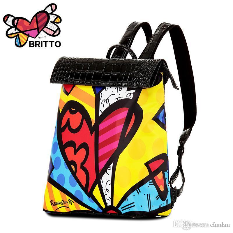 e4dbceb00f3a Wholesale Hot Sale New Printing Backpack 2016 Fashion Men Women Backpacks  Graffiti Schoolbag Casual Satin   PU Bags For Girls Duffel Bag Jansport Big  ...